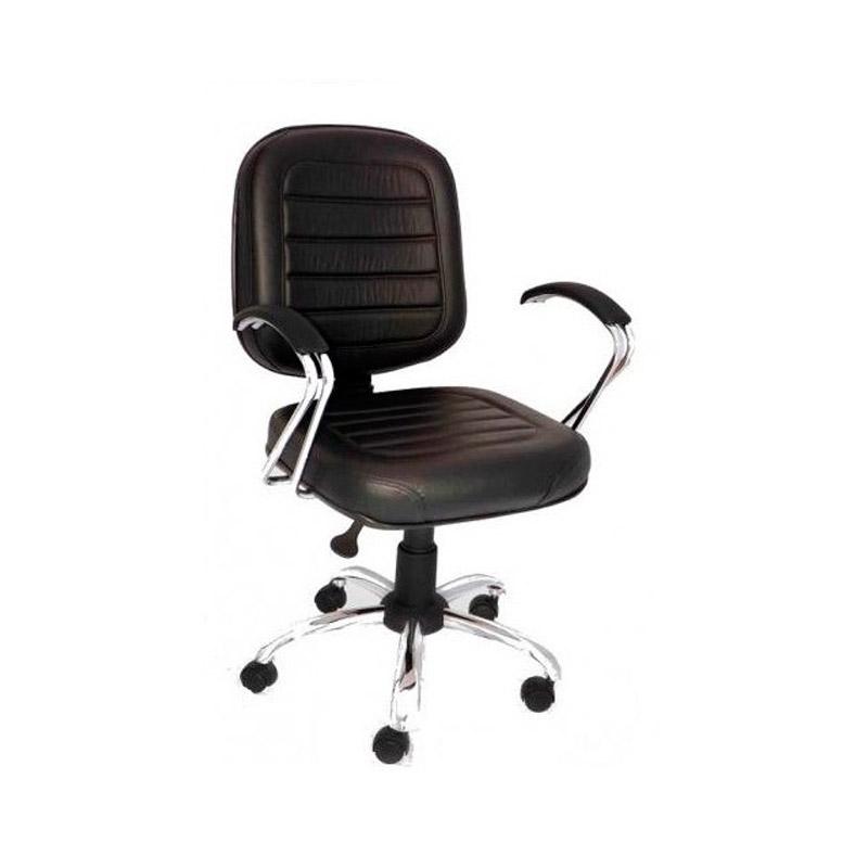 Cadeira Gerência costurada cromada