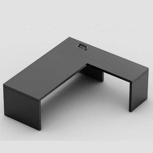 Mesa reta com mesa auxiliar