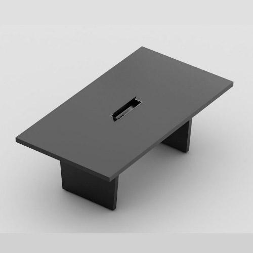 Mesa de reunião retangular com pé painel